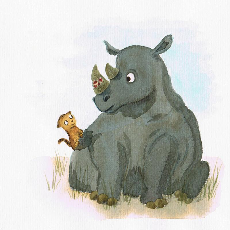 Das Nashorn mit Pflaster