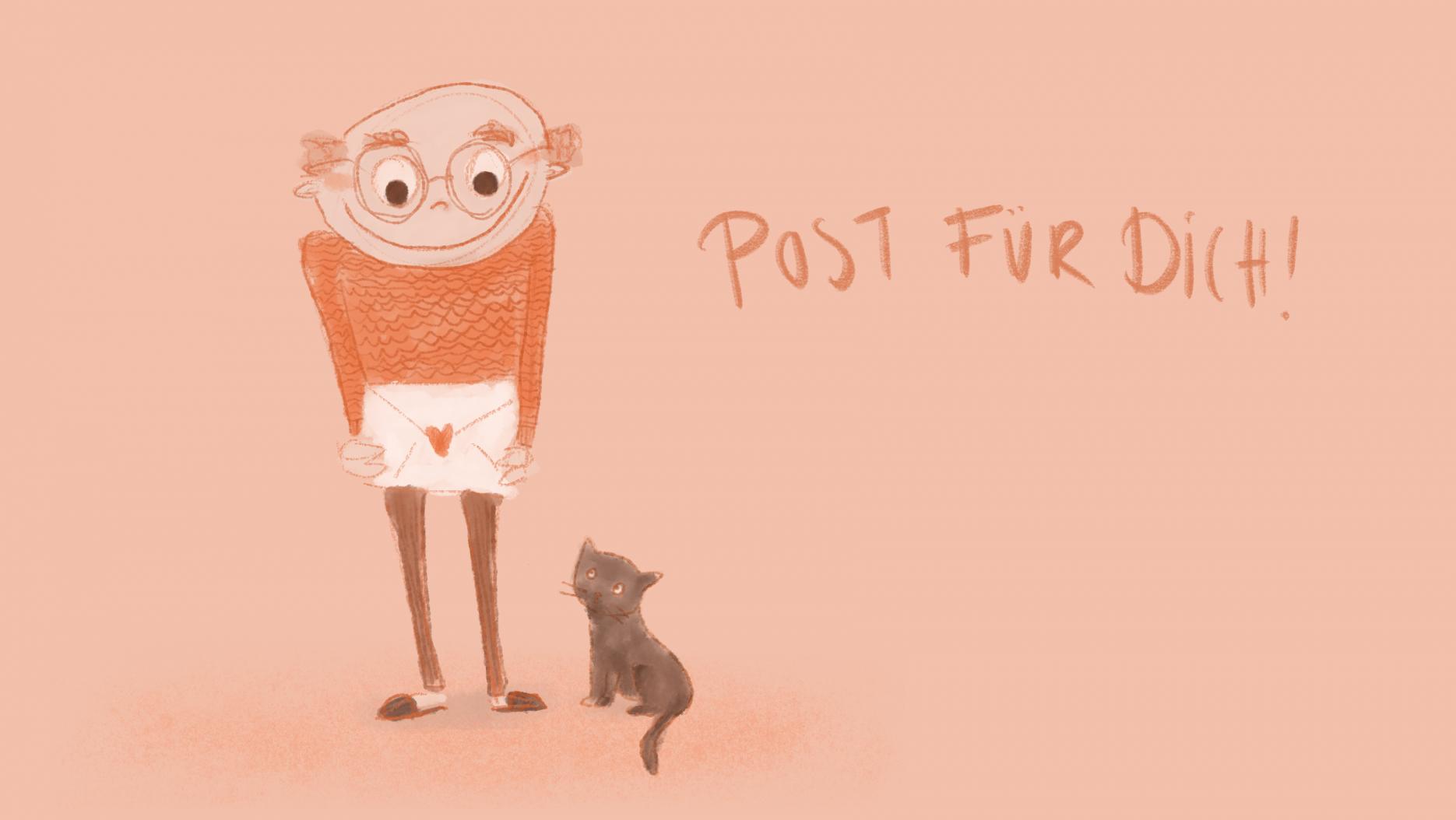 Auch Opa und die Katze freuen sich über Post