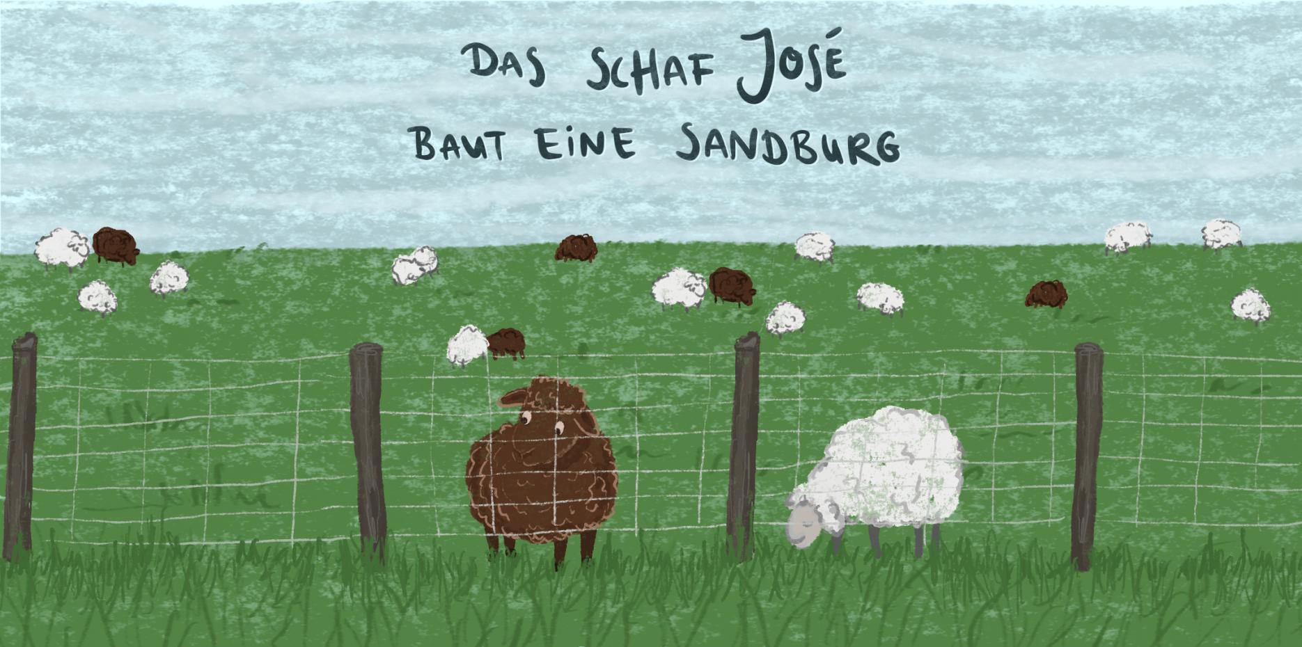 Illustration: José schaut durch den Zaun