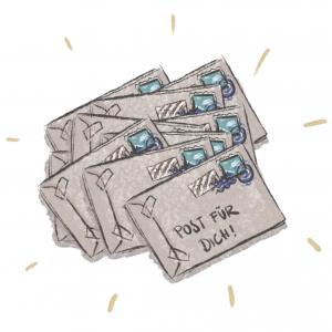 Stapel mit 10 Briefen